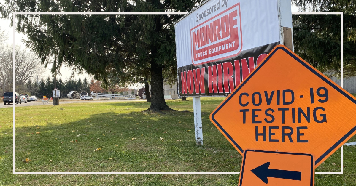 New Green County Covid-19 Testing Site Sponsored by Monroe Truck Equipment
