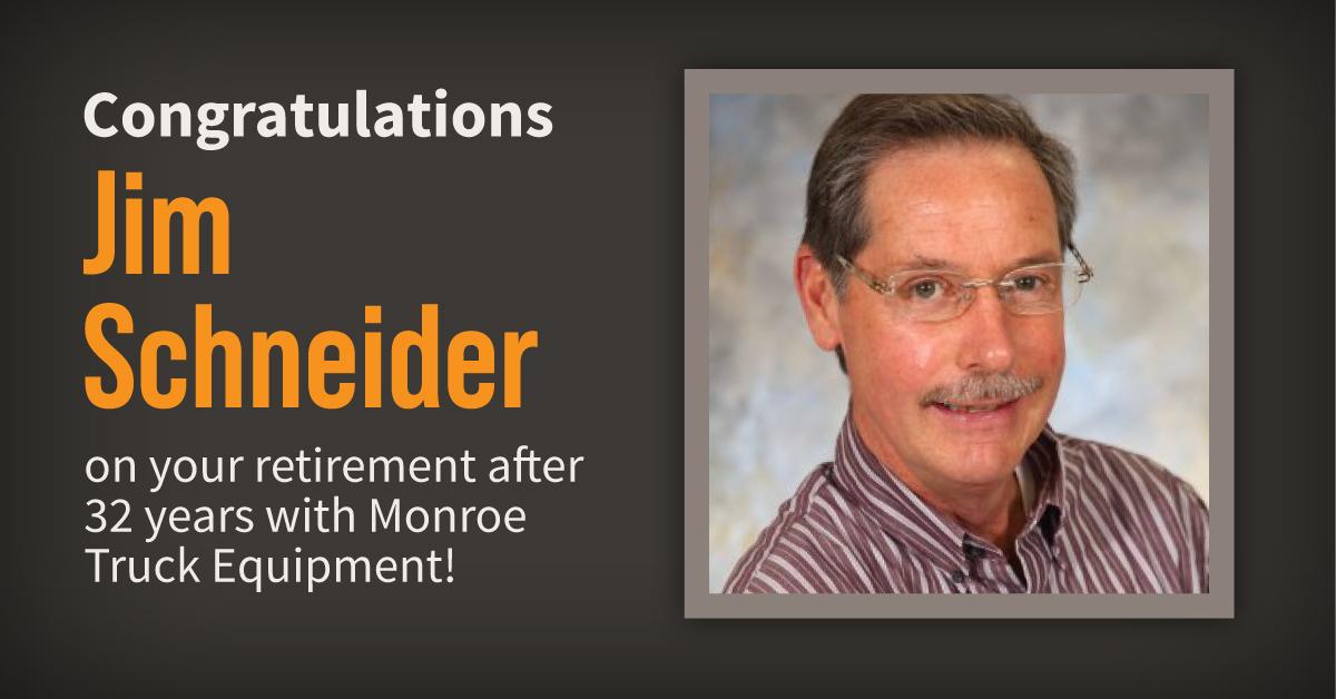 Congratulations to Jim Schneider on His Retirement
